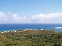 Ocean view. A panoramic view overlooking a point of land along the coast of St. Croix, US Virgin Islands Royalty Free Stock Photo