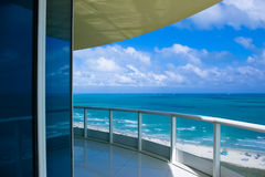 Ocean view. A view of the beautiful ocean from a balcony royalty free stock photos