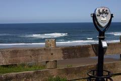 Ocean view. With  binocular Stock Image