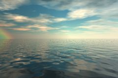 Ocean view. 3d render illustration stock illustration