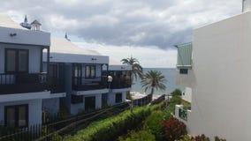 Ocean view. From aguilas playa balcony at Gran Canaria Stock Photos