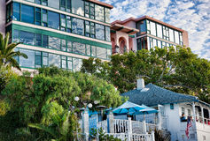 Ocean View Apartments, La Jolla, California Stock Image