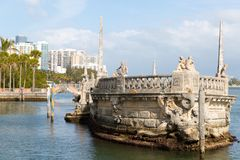 Ocean view from the backyard of Vizcaya Museum in Miami, Florida. January 15, 2018 Stock Photography