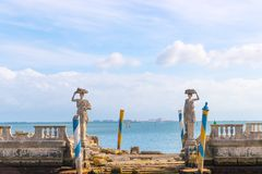 Ocean view from the backyard of Vizcaya Museum in Miami, Florida. January 15, 2018 Royalty Free Stock Images
