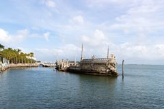 Ocean view from the backyard of Vizcaya Museum in Miami, Florida. January 15, 2018 Stock Photo