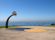 Ocean View Basketball. At Angel Gate Park in Los Angeles California Royalty Free Stock Photos