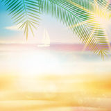 Ocean view from beach with retro look. Royalty Free Stock Photography