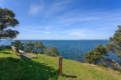 Ocean  view and blue sky skyline Royalty Free Stock Photo