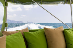 Ocean view from board of sailing boat or yacht Stock Image