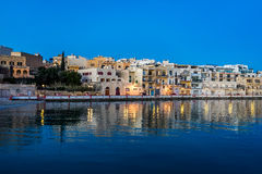 Ocean view buildings. A shot of ocean view buildings in Malta Royalty Free Stock Photo