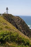 Ocean view with the Cape Byron lighthouse Royalty Free Stock Photography