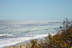 Ocean view from the cliff. In Malibu California Stock Image