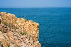 Ocean view at The Cliff of Stone Plates Da Dia in Central Vietnam.  Stock Photos