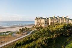 Ocean View Condos. Luxury ocean view luxury condos at Wild Dunes Resort, Isle of Palms, North Carolina stock photo