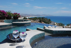 Ocean View Costa Azul. Ocean view from luxury Villa Mexico with pool and jacuzzi stock photography