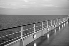 Ocean view from cruise ship. At the evening Stock Photography