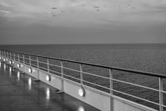 Ocean view from cruise ship. At the evening Royalty Free Stock Image