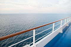 Ocean view from cruise ship Stock Photo