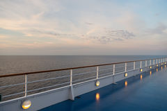 Ocean view from cruise ship Royalty Free Stock Photo