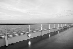 Ocean view from cruise ship. At the evening Stock Photo