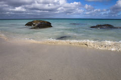 Ocean view of crystal clear water. Landscape view of crystal clear ocean water Royalty Free Stock Images