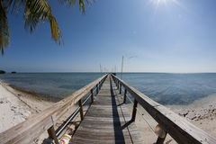 Ocean view fishing Pier Royalty Free Stock Image
