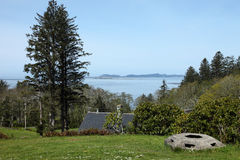 Ocean view from Fort Columbia WA.state. Stock Photo
