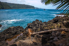 Ocean view in Hana town. Royalty Free Stock Photo