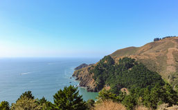 Ocean view from the hill. Royalty Free Stock Photography