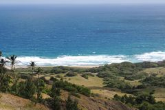 Ocean view. View of ocean from hills in Barbados Stock Images