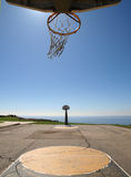 Ocean View Hoops. Ocean view basketball at L.A.'s Angeles Gate public park Royalty Free Stock Images