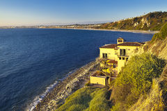 Ocean view house. In Los Angeles Stock Photography
