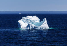 Ocean view with icebergs Stock Photography