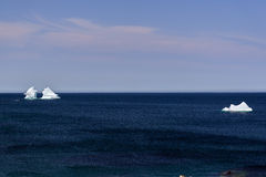 Ocean view with icebergs Royalty Free Stock Image