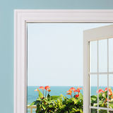 Ocean View from Inside Stock Photo