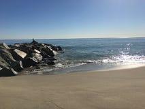Free Ocean View Malibu Rocks Sand Beach Stock Photos - 157708833