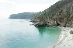Ocean view. Nature background with nobody. Morgat, Crozon peninsula, Brittany, France.  royalty free stock photos