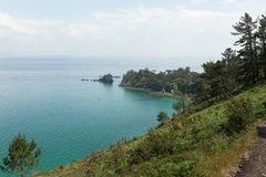 Ocean view. Nature background with nobody. Morgat, Crozon peninsula, Brittany, France.  royalty free stock images