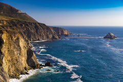 Ocean view near Bixby Creek Bridge in Big Sur, California, USA Stock Photo