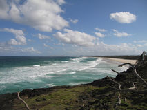 Ocean View. From the Nobbys Headland, NSW royalty free stock photos