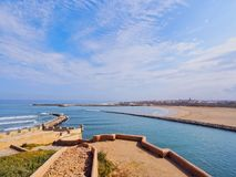 Ocean View from the old medina in Rabat, Morocco Royalty Free Stock Image