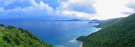 Ocean View Panorama. Panoramic view of Shark Bay, BVI Stock Images