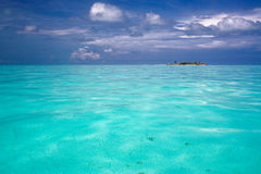 Ocean view of paradise island stock photo