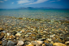 Ocean View. Pebble Beach - Dilek National Park, Turkey royalty free stock photography