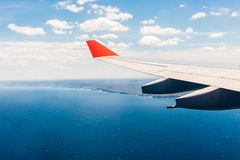Ocean view from plane window over Australia Royalty Free Stock Photography