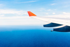 Ocean view from plane window over Australia Royalty Free Stock Images