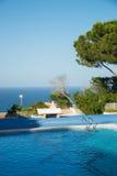 Ocean view pool Stock Photo