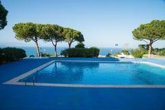 Ocean view pool Royalty Free Stock Photo