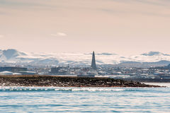Ocean view of Reykjavik city in Iceland Stock Photo