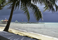 Ocean View in San Pedro, Belize. A peaceful ocean view in San Pedro, Belize Royalty Free Stock Photos